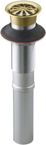 - Kohler K-7129-PB Lavatory Grid Drain Without Overflow, Vibrant Polished Brass