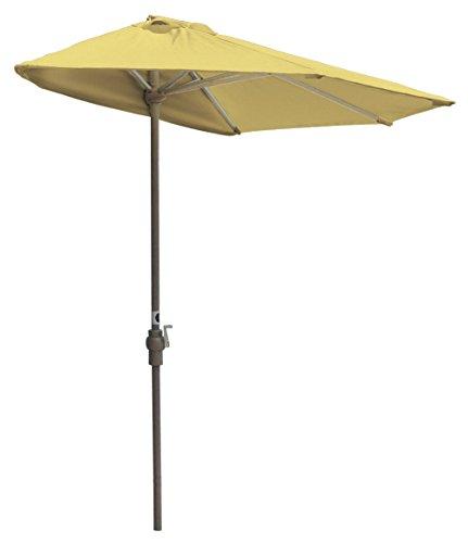 (Blue Star Group Off-The-Wall Brella Olefin Half Umbrella, 7.5'-Width, Yellow)