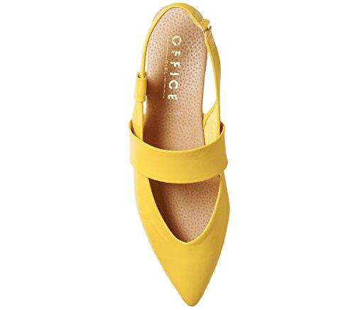 Leder Office Point gelbem aus Fashion Flats pxXB6UA