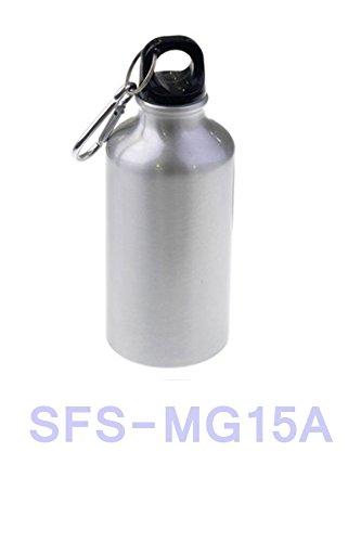 SFS BLANK Aluminum Grey Sport Thermos Flask W/Carabine for Sublimation DYE Heat Transfer Grey 600ml