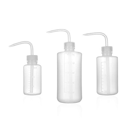 (ZELARMAN 3-Pack Plant Flower Watering Bottle/Succulent Watering Cans Plastic Squeeze Bottle with Bend Mouth/Garden & Indoor Watering Tools (150ML,250ML,500ML) )