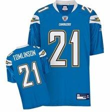 Reebok San Diego Chargers NFL American Football Premier Sewn Jersey – Tomlinson #21 – Herren XL (XXL) – 147, 2 cm Brustumfang