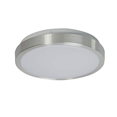 Avant//Pl/ástico//Acero Redonda Incluye LED Max 1 x 12 Watt QAZQA Moderno Plaf/ón moderno aluminio 28 cm con LED 12W