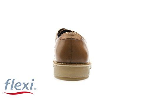 de Marron Shoes Chaussures Peau 40 Flexi Lacets à Pour Homme Ville SqEaF8w4