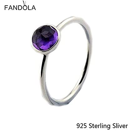 bdc986f83 Image Unavailable. Image not available for. Color: Rings Compatible With Pandora  Jewelry 925 Sterling Silver February Droplet ...