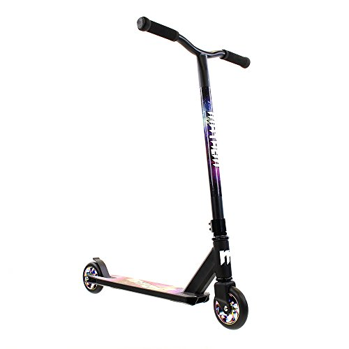 Mayhem Kick and Stunt Scooter, Galaxy Neo Chrome Pro, Black