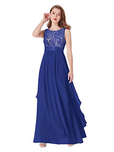 Ever-Pretty Womens Sleeveless Elegant Formal Black Tie Affair Dress 16 US Sapphire Blue