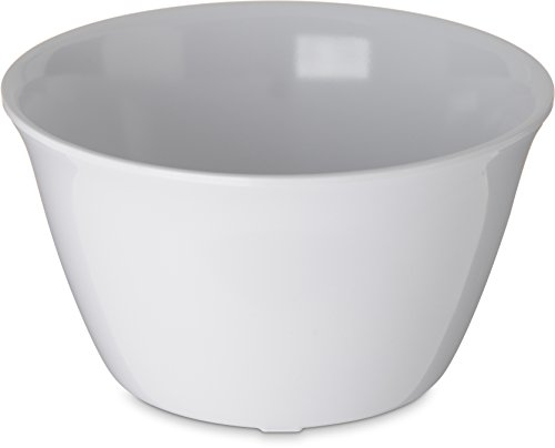 "Carlisle 4354002 Dallas Ware Melamine Bouillon Cup, 8-oz. Capacity, 3.84 x 2.15"", White (Case of 24)"