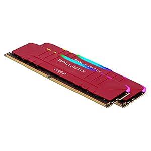 Crucial Ballistix RGB 3200 MHz DDR4 DRAM Desktop Gaming Memory Kit 32GB (16GBx2) CL16 BL2K16G32C16U4RL (RED)