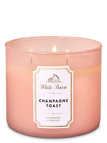 Body Works White Barn 3-Wick Scented Candle in Champagne Toast
