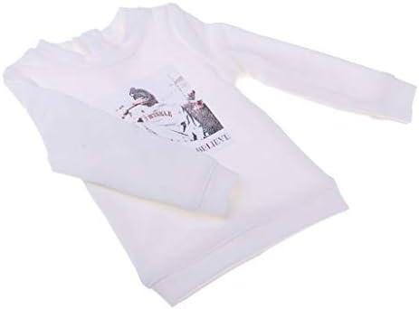 1/4 BJD DOD MSD SD ASドール用 プルオーバートップス シャツ 人形服 2色選ぶ - ホワイト