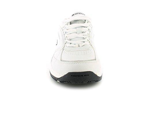 NUEVO Hombre/Caballeros Blanco Hi-Tec Ligero Eva Suela Intermedia Piel Zapatillas - Blanco - GB Tallas 7-14