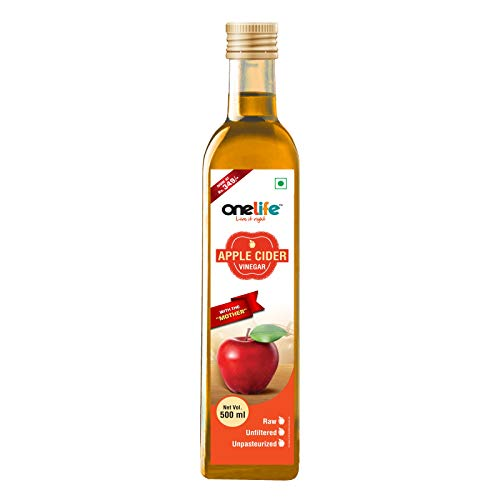 Onelife Organic Apple Cider Vinegar with strand of mother, Raw, Unfiltered, Unpasturised:500 ml