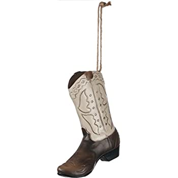 Cowboy Boot 5 Resin Stone Christmas Ornament by Sullivans
