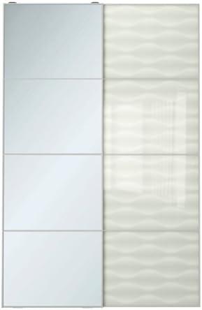 Ikea - Par de Puertas correderas, Espejo, Cristal Blanco, 59 x 92 7/8
