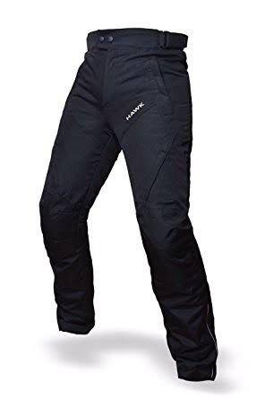 Motorcycle Pants (HWK Mens Black Textile Breathable Waterproof CE Armoured Motorbike Overpants Motorcycle Trousers / Pants - 1 year Guarantee Waist38''-40'' Inseam30'')