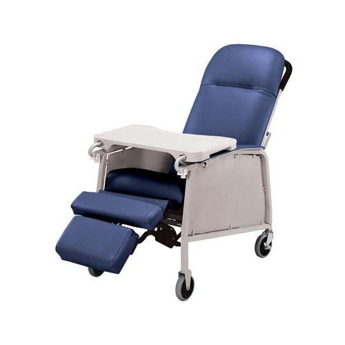 Lumex Three Position Recliner with Swivel Casters, Royal Blue, 574G454