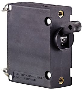 Ancor 551515 Marine Grade Electrical Magnetic Single Pole AC/DC Circuit Breaker (15-Amp, Black)