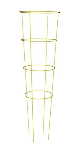 Panacea Products 89756 Heavy Duty Tomato Cage and Plant Support, 54 by 16-Inch, Yellow by Panacea Products