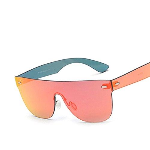 Reborde Un B Sol TIANLIANG04 De Espejo Rosa Mujer De Azul Gafas Sol Gafas dBqBwP7