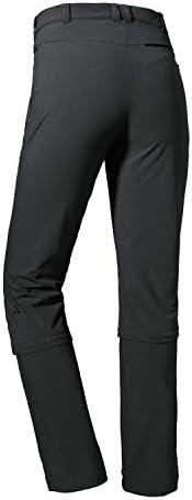 Schöffel Engadin1 Pantalon Confortable et élastique pour Femme avec Fonction Zip Off, rafraîchissant et séchage Rapide, Femme, 12640, Gris, m