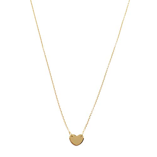 (HONEYCAT Mini Heart Charm Necklace in 24k Gold Plated | Minimalist, Delicate Jewelry)