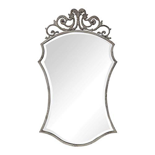 "Uttermost 09479 Sadie - 43.75"" Scroll Mirror, Distressed/Fre"