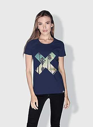 Creo La X City Love T-Shirts For Women - M, Blue
