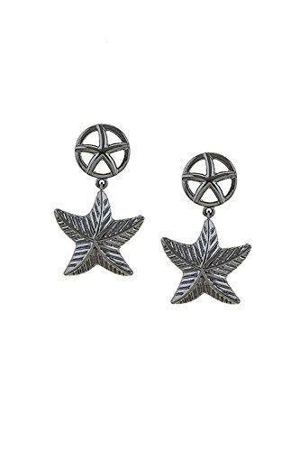 BAUBLES & CO STARFISH CHARM LINK EARRINGS (Trifari Hematite Earrings)