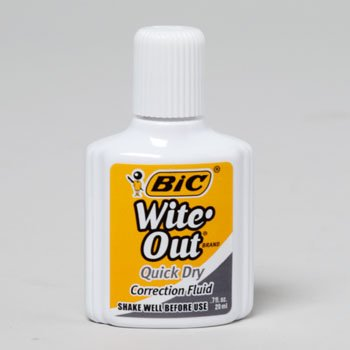 BIC WITE OUT .7FL QUICK DRY CORRECTION FLUID, Case Pack of 240