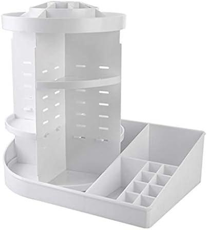 SMEJS Kosmetische Rotating Box, einstellbar for Make-up Organizer Makeup Größe 36x 24 x 35 cm (Color : White)