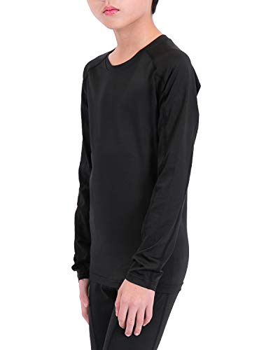 41413d9d3fdf3 Boy's Long Sleeve Athletic Shirts Sweat-Wicking Base Layer ...