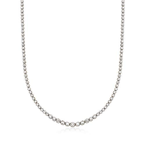 Ross-Simons 3.00 ct. t.w. Graduated Diamond Tennis Necklace in 14kt White Gold