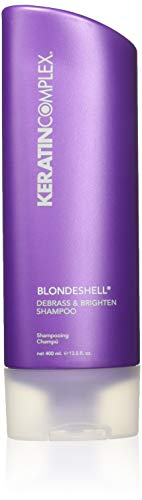 Keratin Complex Blondeshell Debrass and Brighten Purple Shampoo and Conditioner for Blonde Hair, 13.5 Fl. Oz. Value Pack! ()