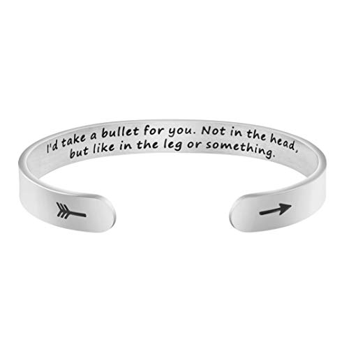 Inspirational Mantra Cuff Bracelets for Women Friend Encouragement Gift for Her Personalized Birthday Jewelry