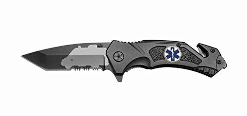 Rogue-River-Tactical-Black-Spring-Assist-Rescue-Pocket-Knife-EMT-EMS-Ambulance-Tanto-Blade-with-Glass-Breaker-Seat-Belt-Cutter-Assisted-Combat-Knives