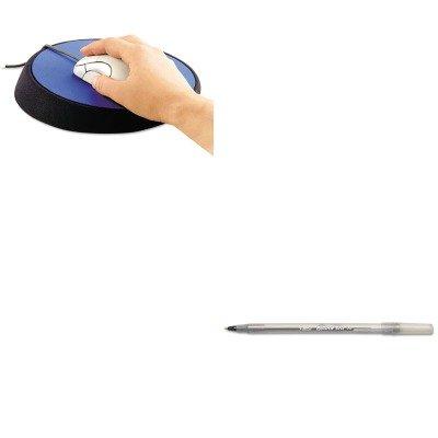 KITASP26226BICGSM11BK - Value Kit - Allsop Wrist Aid Ergonomic Circular Mouse Pad (ASP26226) and BIC Round Stic Ballpoint Stick Pen - Wrist Allsop Aid