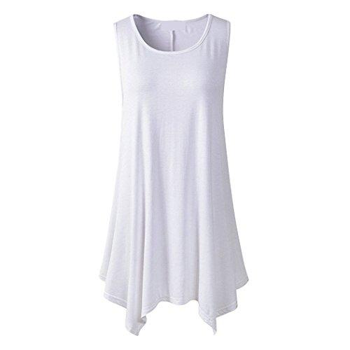 November's Chopin (TM) Womens Summer Sleeveless Tank Top Tunic Shirts White S (Quirky Fancy Dress Ideas)