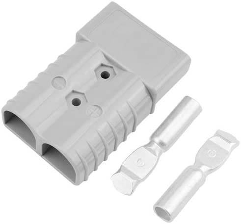 2 Pieces 600V 350A Winch Trailer Battery Connector Plug Handle Grip Grey