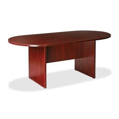 Lorell LLR87272 Oval Conference Table, Top and Base, 72'' x 36'' x 29-1/2'', Mahogany by Lorell