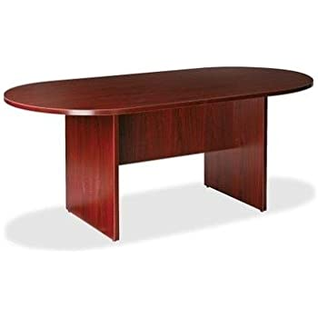 Amazon Com Lorell Llr87272 Oval Conference Table Top And