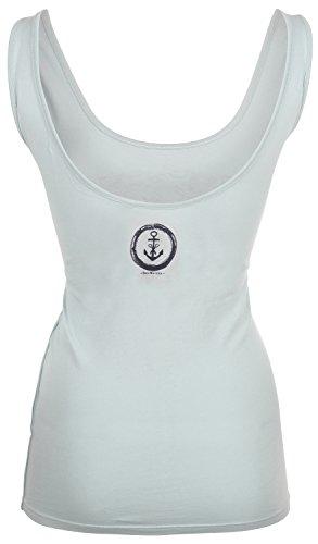 DreiMaster - Camiseta sin mangas - Sin mangas - para mujer silbergrün