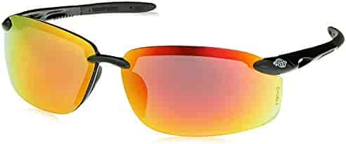 de8c5e8bdd Crossfire Eyewear 12620 W ES5-W Safety Glasses with Black Temples and Red  Mirror Lens