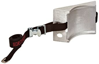 """Talboys 715 Aluminum Cylinder Wall Bracket with Safety Message Strap, 1.875"""" Length x 8.125"""" Width x 4.625"""" Height"""