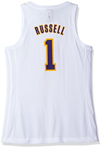 NBA Women's Los Angeles Lakers D'Angelo Russell Replica Player Home Jersey, Medium, White