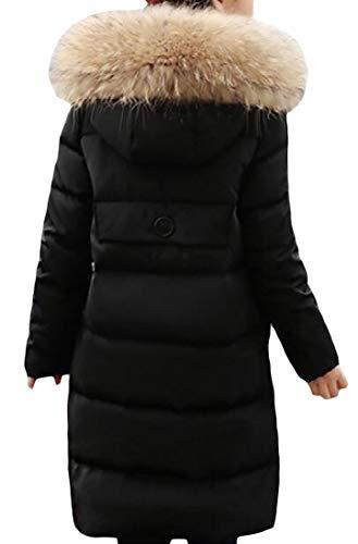 Inverno Eco Medio amp; Zip Cappuccio Cappotto pelliccia Nero Giù E Puffer lungo H Con Outwear Di Ragazza q1FzSSA