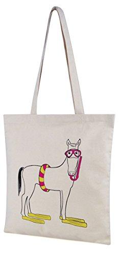 Packable Bag Print Donkey Ideal Folds Pool Canvas Shopping Flat Shopper Beach Swim Holiday qqrEB1
