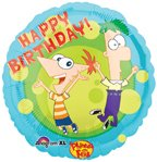 Anagram International Phineas and Ferb Happy Birthday Foil Balloon, 18