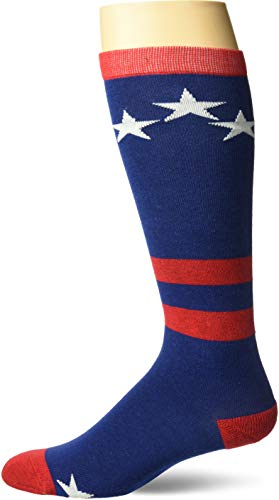 Gmall Star and Stripes American Flag Mismatch Patriotic Knee High Socks Celebrate Independence Day, 1/2/3 Pairs