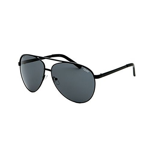 Quay Australia Vivienne Aviator Sunglasses in Black/Smoke (Black, - Quay Vivienne Sunglasses